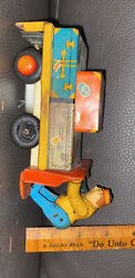 Antique Toys Marks Wind Up, Airport Baggage Truck