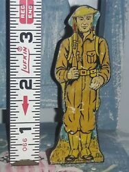 1940's Marx Soldiers Of Fortune Infantry Private Foot Soldier Tin Litho