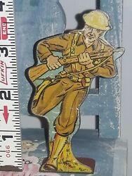 1940's Marx Infantry Private - Charging Soldiers Of Fortune - Playset Tin Litho