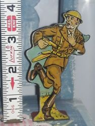 1940's Marx Infantry First Lieutenant Soldiers Of Fortune Tin Litho Figure
