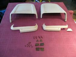 Rare 1967 67 Mustang Gt Shelby 427 Deluxe Seat Back Panels Side Trim White Set