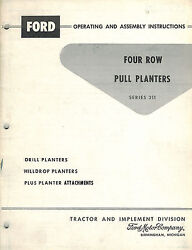 Ford 311 Pull Type Plate Planter Operator's Manual
