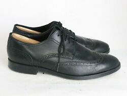 Cole Haan Grand Os Black Leather Cap Toe Oxford Size 10.5 M