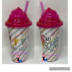 Disney Epcot Italy World Showcase Mickey Gelato I Melt For You Tumbler Cup With