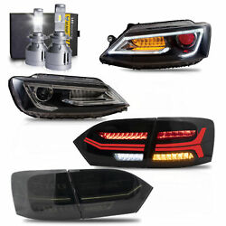 Free Shipping To Pr For 11-14 Vw Jetta Demon Headlights+smoke Taillight+d2s Bulb