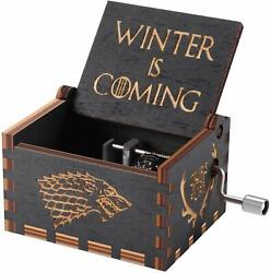 New Home Wooden Music Box Antique Carved Hand Crank Game Of Throne Festival Gift