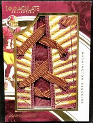 Josh Doctson 2016 Panini Immaculate Laces Jumbo Shoe Lace Patch Relic Rc 1/1