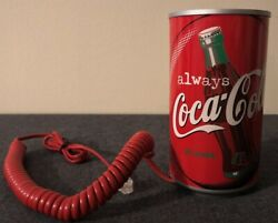Coca Cola Can Shape Vintage Phone Rare Mint In Box New Coolest Collectable