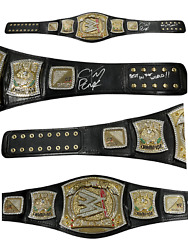 Wwe Cm Punk Hand Signed Autographed Figs Inc Adult Spinner Belt With Coa Rare