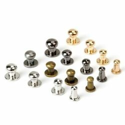 100 Sets Round Head Button Studs Rivet Metal Screw Back Leather Punk Clothing