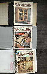 Vintage Lot Of 31 Woodsmith Magazines 113-143 1997-2002 With 3 Binders