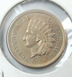 1859 Us 1c Indian Head Cent Nice Uncirculated First Year [a] T9