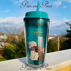 Starbucks Christmas Dog Cat Cold Cup 16 Oz. Limited Thailand Us Seller