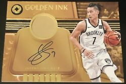 Jeremy Lin 17-18 Panini Gold Standard Golden Ink 14k Gold Relic Auto 13/20 Rare