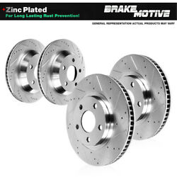 Front And Rear Premium Brake Rotors For 2014 2015 Dodge Charger Pursuit