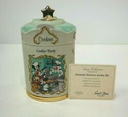 Lenox Disney Animated Classics Mickey Mouse Porcelain Cookie Jar Cookie Party