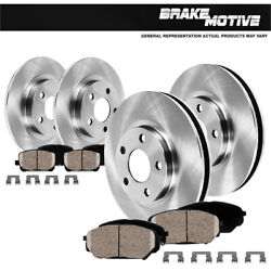 For 2003 2004 2005 Ford Explorer Trac 2wd Front+rear Rotors Ceramic Pads