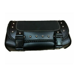 Motorcycle Saddlebag PU Leather Tool Pouch Fork Bag Roll Barrel Bags Cafe Racer $15.80
