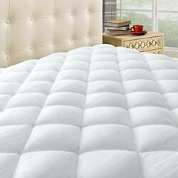 Pillow Top Mattress Pad Cover Bed Topper Protector Soft Hypoallergenic 4 Sizes