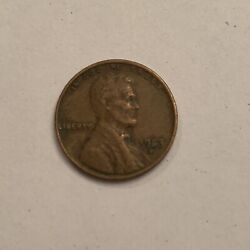 1953-d Lincoln Wheat Penny Press Error Filled In 5 Good Condition