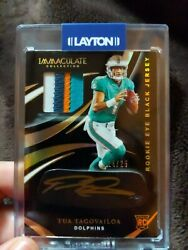 Tua Tagovailoa Immaculate Collection Rpa 24/25...4 Color Patch And Gold Ink