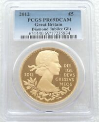 2012 Diamond Jubilee £5 Five Pound Silver Gold Proof Coin Pcgs Pr69 Dcam