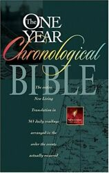 One Year Chronological Bible-nlt Book The Fast Free Shipping