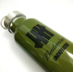 Undefeated Five Strikes X Budweiser 2 Wall Vacuum Insulated Bottle Olive Green