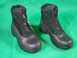TOTES WATERPROOF THERMOLITE INSULATION BLACK WINTER SNOW BOOTS MEN#x27;S SZ US 10 43 $29.00