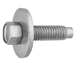 Hex Head Sems Body Bolt Zinc M6-1.0 X 22.5mm With Dog Point Andbull Package Quantity