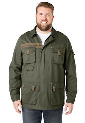 Boulder Creek By Kingsize Menand039s Big And Tall Multi-pocket Twill Jacket