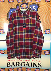 Chaps Mens Brushed 100 Cotton Flannel Shirts Rg 19.99 Bandt 24.99 Free Shipping
