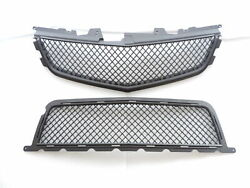 Matte Black Front Upper/lower Grille Combo For 091011121314 Cadillac Cts-v