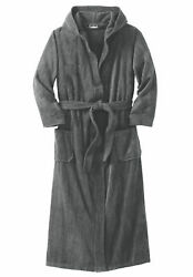 Kingsize Menand039s Big And Tall Terry Velour Hooded Maxi Robe