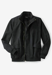 Kingsize Menand039s Big And Tall Microsuede Bomber Jacket Leather Jacket