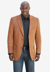 Ks Signature By Kingsize Menand039s Big And Tall Microsuede Sport Coat Leather Jacket