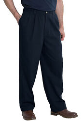 Kingsize Menand039s Big And Tall Knockarounds Full-elastic Waist Pleated Pants