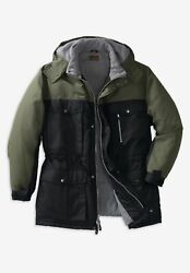 Boulder Creek By Kingsize Menand039s Big And Tall Colorblock Expedition Parka - Big -