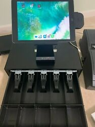 ncr Silver Pos Cash Register System With Printers And Back Office Mac-mini