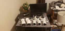 Hikvision 16 Channel Nvr Poe 2tb With 7 Ip Cameras - Slightly Used - 3 Mo Old