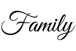 Family Decal   Large Wall Quotes Sticker 22 X 9 Inches   Vinyl Wall Art Letters
