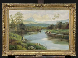 Clarence Roe British 1850-1909 Large Victorian Scottish Highlands Oil Painting
