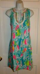 NWT LILLY PULITZER MULTI BEACH AND BAE HARPER SHIFT LARGE $99.99