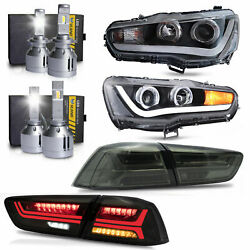 Free Shipping To Pr For Lancer Dual Beam Headlights+smoke Taillights+h1andh7 Bulbs