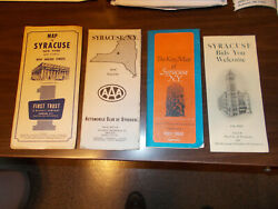 Vintage Syracuse Ny Maps And Brochure / 4 Different Items For One Money