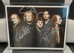 Yes Band Signed / Autographed 8x10 Photo With Coa