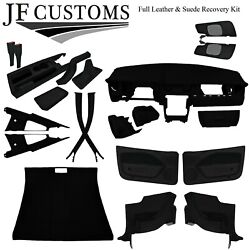 Black Stitch Suede+leather Covers For Ford Mustang 05-09 Interior Recovery Kit