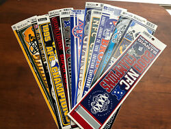 Lot Of 13 Vintage Nfl New Bumper Stickers - Giants, Broncos, Packers, Steelers