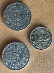 1 Shilling 1948 And 2 Shillings 1948 And 1949 A Lot Of Three Uk Coins