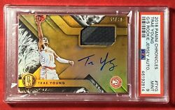 2018-19 Panini Chronicles Gold Standard Trae Young Rookie Patch Auto /99 Psa 9